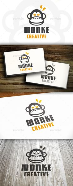 Creative Monkey Logo Template Vector EPS, AI #logotype Download: http://graphicriver.net/item/creative-monkey-logo/11215247?ref=ksioks