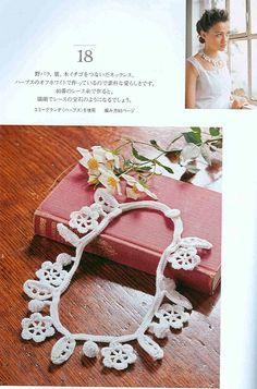 Ivelise Feito à Mão: Colar Em Lace Crochê..... crochet necklace pattern