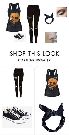 """""""Untitled #137"""" by shortiiiee on Polyvore featuring Topshop, Converse and Boohoo"""