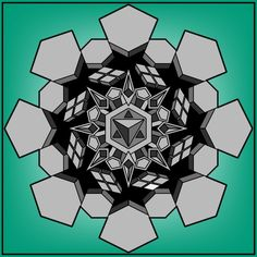 Hexagon Tattoo, Geometric Mandala, Black Work, Adobe Illustrator, Pin Up, Tattoos, Illustration, Paint Party, Vectors