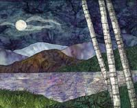 applique quilt landscape | ... from traditional or geometric quilts into landscape quilting