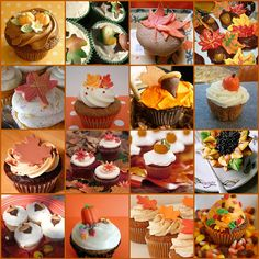 Stunning collection of fall cupcakes Love Cupcakes, Themed Cupcakes, Baby Shower Cupcakes, Cupcakes Fall, Halloween Cupcakes, Sunflower Cupcakes, Pumpkin Cupcakes, Chocolate Chip Cupcakes, Pumpkin Chocolate Chips