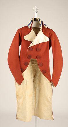 Man's Jacket, French, 1790–95, silk. Metropolitan Museum of Art.