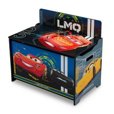 Cars Toy Box, Toy Boxes, Disney Cars Bedroom, Toy Storage Bench, Car Activities, Delta Children, Disney Gift, Disney Pixar Cars, Lightning Mcqueen