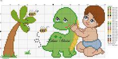 Disney Cross Stitch Patterns, Cross Stitch For Kids, Cross Stitch Baby, Cross Stitch Charts, Cross Stitch Embroidery, Baby Blanket Crochet, Crochet Baby, Especie Animal, Knitting
