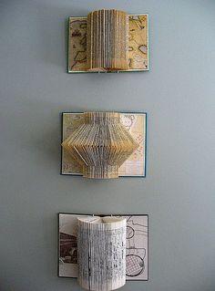 Stylish book page art