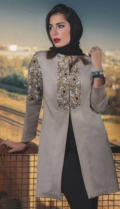 See more ideas about Hijab Fashion, Winter coats and Woman fashion. Fashion Models, Girl Fashion, Fashion Design, Modest Fashion, Fashion Dresses, Fall Collection, Iranian Women Fashion, Street Hijab Fashion, Mode Hijab