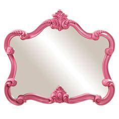 "Howard Elliott Veruca Pink Mirror 28"" x 32"" x 2"""