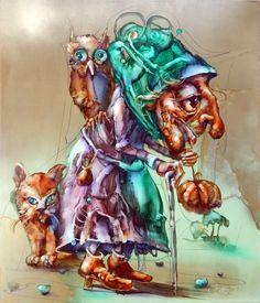 A vén kuruzsló, 70x60cm, olaj. Antique Stores, The Magicians, Marvel, Antiques, Artist, Painting, Antique Shops, Antiquities, Antique