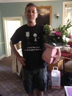 Congratulations to Greg and Hannah who got married in Gougane Barra Hotel yesterday! Here's Greg in his new t-shirt (for sale on our online shop!)