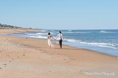 Beach wedding Bride and Groom portrait. www.natalieheimphotography.com