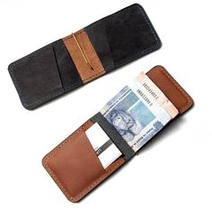 Kompakt II - leather cardholder. With its new money clip it can take notes!