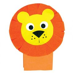 Lion Paper Bag Puppet - CleverPatch