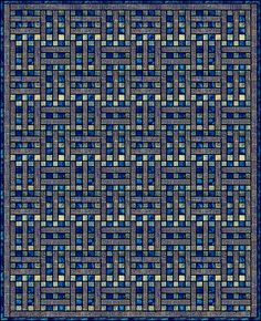 Split Rail Fence quilt pattern (info starts here: http://www.quilterscache.com/S/SplitRailFenceBlock.html)