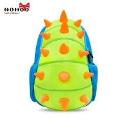 44239592309f NOHOO Blue Green Dinosaur Baby Kid s Backpack Waterproof Children Daypack  Boys Girls 3D Cartoon School Backpack