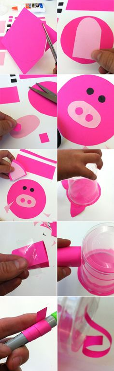 diy piggy bank for kids Diy And Crafts Sewing, Crafts To Sell, Kids Videos, Craft Videos, Piggy Bank Craft, This Little Piggy, Craft Wedding, Crafts For Teens, Craft Tutorials