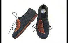 Sneakers - Gefilzte Outdoor Schuhe - ein Designerstück von filz_schuhe bei DaWanda