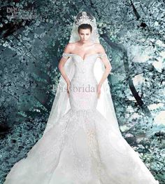 Power mermaid wedding gown