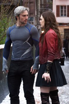 Scarlet Witch and Quicksilver/ Avengers Age of Ultron