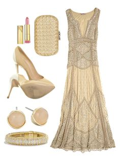 """""""Inspired By Madeleine Vionnet"""" by monshalien on Polyvore featuring Calypso St. Barth, Versace, Cole Haan, David Yurman, Corto Moltedo y Max Factor"""