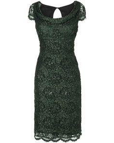 Nouveau Phase huit Vert Sequin OVERLAY Dress Party Evening Bodycon crayon 6-18