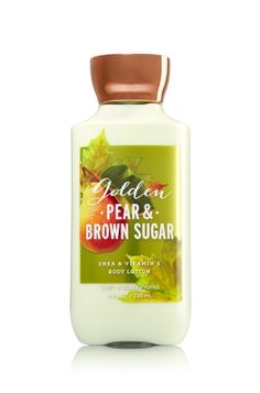 Golden Pear & Brown Sugar - Body Lotion - Signature Collection - Bath & Body Works - America's #1 Body Lotion! Infused with Shea Butter and our exclusive Daily Moisture Complex, our enhanced lotion contains more of what skin loves, leaving it feeling incredibly soft, smooth and nourished. Fortified with nutrient-rich ingredients like protective Vitamin E and conditioning Vitamin B5, our fast-absorbing, non-greasy formula delivers 16 hours of continuous moisture.