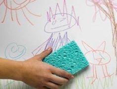 Remova as manchas de lápis de cor das paredes - Ideal Receitas