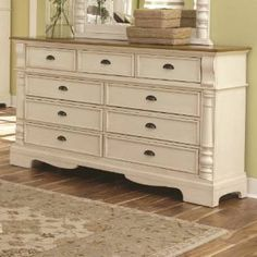 Check out the Coaster Furniture 202883 Oleta Dresser in Buttermilk/Brown with 9 Drawers and Bracket Feet priced at $532.00 at Homeclick.com.