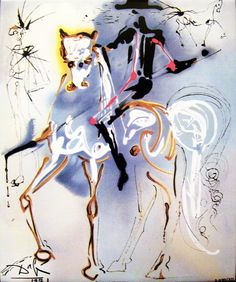 SALVADOR DALI.......PAINTING.......EXHIBITION.....PARTAGE OF BRENDA HOLDEN.......