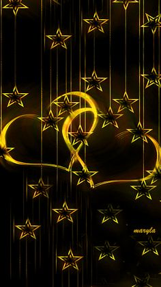 Free animated gold stars mobile wallpaper by maryla75 on Tehkseven