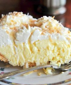 Ingredients: 1 cup sweetened flaked coconut 3 cups half-and-half 2 eggs, beaten 3/4 cup white sugar 1/2 cup all-purpose flour 1/4 teaspoon salt 1 teaspoon vanilla extract 1 (9 inch) pie shell, baked 1 cup frozen whipped topping, thawed Directions: Preheat oven to 350 degrees F