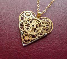 Clockwork Heart Necklace Depth Elegant by amechanicalmind on Etsy, $58.00