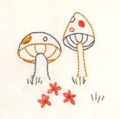 Embroidery Photo - Mushrooms