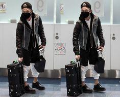 Taeyang @ airport fashion