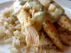 Low cal and EASY weeknight dinner - Creamy Dijon Chicken. Comes together in less than 20 minutes.