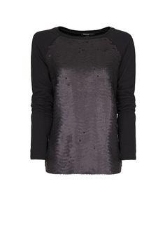 MANGO - Scale effect panel sweatshirt