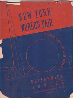 1939 New York World's Fair Britannica Junior booklet