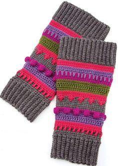 Girl leg warmers crochet pattern free