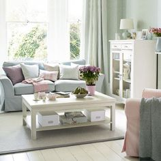 Down and Out Chic: Interiors: Blush Pink + Light Grey