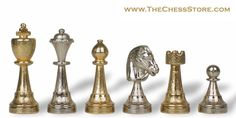 Chess.  Staunton Chess Set Gold & Silver by Italfama.  http://www.thechessstore.com/product/MS070GIT/Gold-Silver-Staunton-Chess-Set.html