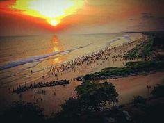 Payambalam beach..at evening  Kannur , kerala.