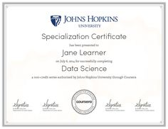 Data Science | A Specialization on Coursera: Your Pathway to Expertise #johnhopkins