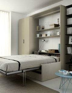 Storage wall with fold-away bed TIRAMOLLA 961 - TUMIDEI