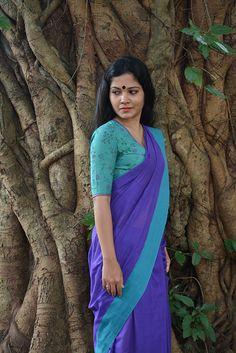 Blouses: Buy Designer Kaithari Blouse, Patchwork Blouse Online – Page 3 – The Kaithari Project Sari Blouse Designs, Blouse Patterns, Beautiful Girl Indian, Beautiful Saree, Beauty Full Girl, Dark Beauty, Lehenga Saree, Saree Blouse, Saree Poses