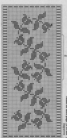 Filet Crochet Border Edging Cross Stitch Borders, Crochet Borders, Crochet Motif, Cross Stitch Designs, Cross Stitching, Cross Stitch Embroidery, Cross Stitch Patterns, Knit Crochet, Crochet Chart