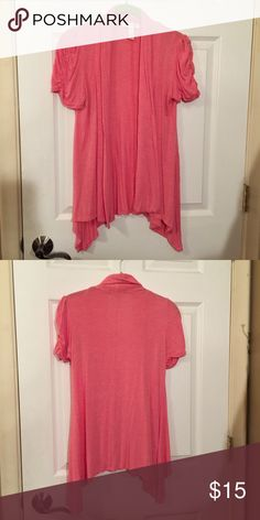 Pink Short Sleeve Jacket Pink short sleeve jacket. Worn a couple times but in great shape! Jackets & Coats