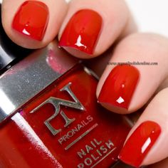 ProNails - Red Canapée - http://www.mynailpolishonline.com/2016/03/pronails/pronails-red-canapee/