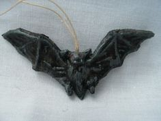 New Dresden type Halloween Ornament 3D Bat by TheDresdenCottage