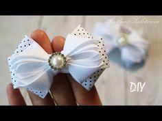 Arcos simples para todos los días a la escuela DIY Svetlana zolotareva Ribbon Art, Diy Ribbon, Ribbon Crafts, Ribbon Bows, Ribbon Bow Tutorial, Hair Bow Tutorial, Felt Headband, Ribbon Headbands, Diy Hair Bows