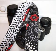 Cute DSLR camera strap cover padded and by SnugglensCameraBags, $27.99